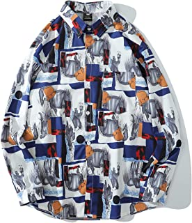 Heren overhemd met kleurafstemming en bedrukt met lange mouwen Modetrend Dagelijks Vrije tijd Outdoor Reizen Eenvoudige on...
