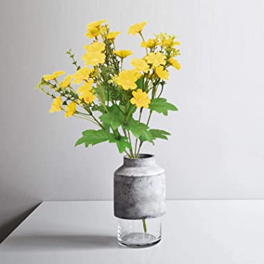 Darkduke 5PC Artificial Flowers, Potted Plant Artificial Plastic Gypsophila Simulation Flower, Mather's Day Gift for Part