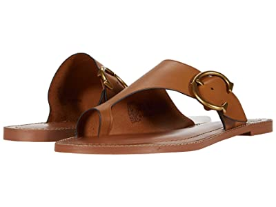 COACH Luca Sandal (Light Caramel Smooth Leather) Women