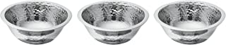 Lenox 850880 Stony Creek Nut Bowls, Set Of 3, Silver (Great for Salsa Bowls, Snack, Dip,or Candy)