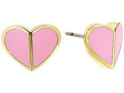 Kate Spade New York Heritage Spade Small Heart Studs Earrings (Rococo Pink) Earring