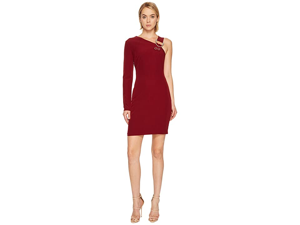 Versace Jeans Couture One Shoulder Long Sleeve Dress (Rhododendron Red) Women