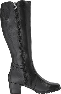 Black Full Grain Tumbled Leather