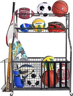 Mythinglogic Sports Equipment Storage Organizer,Garage Storage System for Sports Gear and Kinds...