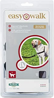 PetSafe Easy Walk Harness for Small/Medium/Large Dogs, Large, Black/Grey, 1.8 m Lead