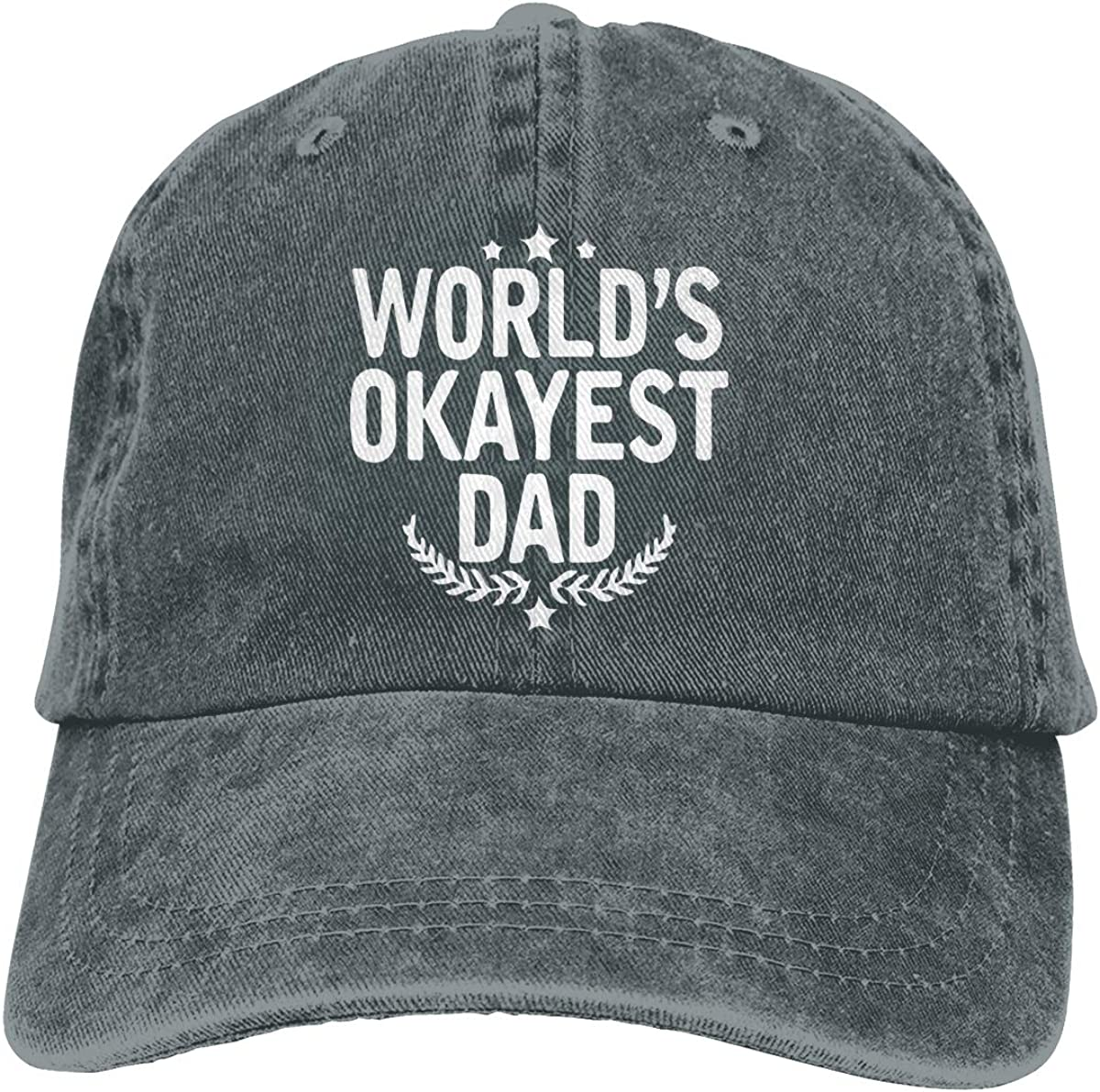 YISHOW Worlds Okayest Dad Unisex Adjustable Baseball Caps Denim Hats Cowboy Sport Outdoor