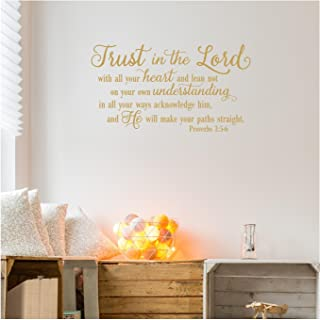 Trust in the Lord With All Your Heart..Proverbs 3:5-6 Vinyl Lettering Wall Decal Sticker (12.5