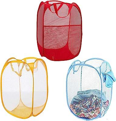 Kuber Industries Nylon 3 Piece Mesh Laundry Basket, 20Ltr (Multi)-CTKTC26046