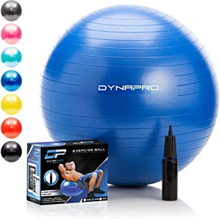 DYNAPRO Exercise Ball – Extra Thick Eco-Friendly & Anti-Burst Material Supports..