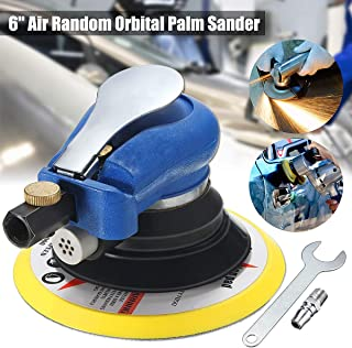 Jeteven 6-Inch Air Random Orbital Sander, Dual Action Speed Adjustable Pneumatic Polisher Pro Grinding Sanding Tools with Wrench