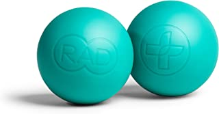 RAD Recovery Rounds I Set of 2 Extra Soft Yoga Medicine Massage Balls for Feet, Jaw, Forearm, Neck and Foot Self Myofascial Release, Deep Tissue Massage, Mobility and Recovery
