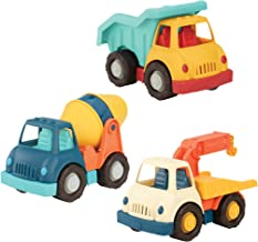 Wonder Wheels by Battat – Dump Truck, Tow Truck, Cement Truck – Toy Truck Combo Set for Toddlers Age 1 & Up (3 Pc)  – 100% Recyclable