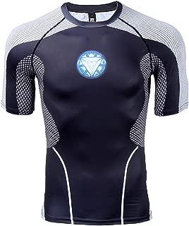 Iron Man 3 Men's Compression Shirt 3D Print T-Shirt Short Sleeve Fitness Top