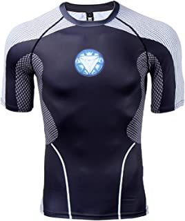 Mens Compression Shirt Iron Man 3D Printed T Shirts Fitness Tops