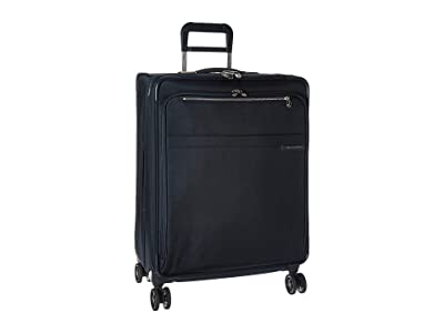 Briggs & Riley Baseline Medium Expandable Spinner (Navy Blue) Luggage