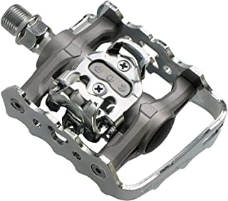 Venzo Multi-Use Compatible with Shimano SPD Mountain Bike Bicycle Clipless Pedals - Dual Platform Multi-Purpose - Great for Touring, Road, Trekking Bikes