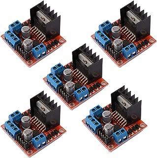 DAOKI 5 PCS L298N Motor Drive Controller Board DC Dual H-Bridge Robot Stepper Motor Control and Drives Module for Arduino Smart Car Power UNO MEGA R3 Mega2560