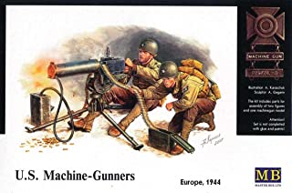 Master Box WWII US Machine Gunners (2) with Browning M1917A1 MG Figure Model Building Kits (1:35 Scale)