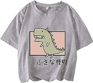 stampa a maniche lunghe con stampa a forma di dinosauro con stampa a forma di animale CHMROA con coulisse felpa da donna con dinosauro a cartoni animati multicolore
