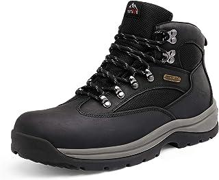 Men's Safety Steel Toe Work Boots Waterproof Construction...