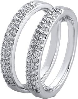 14K White Gold 1/2cttw Diamond Guard Ring