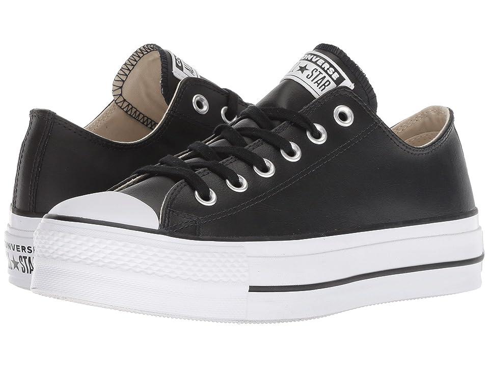 Converse Chuck Taylor All Star Lift Clean Ox (Black/Black/White) Women