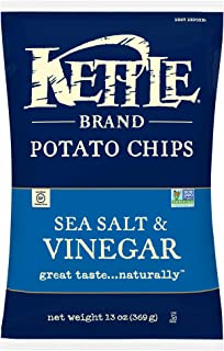 Kettle Brand Potato Chips, Sea Salt & Vinegar Kettle Chips, Sharing Size 13 Oz