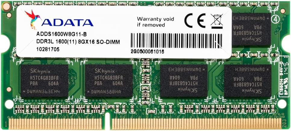 ADATA 8GB New York Mall Online limited product DDR3L DDR3 1600MHz Notebook Laptop Memo 204-Pin SODIMM