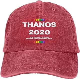 Endool Vote Thanos 2020 Mens Cotton Adjustable Washed Twill Baseball Cap Hat