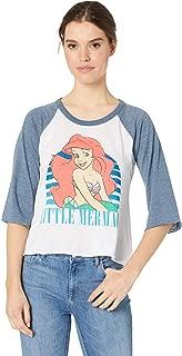 Women's The Little Mermaid x Blocked Jersey 3/4 Sleeve Raglan Tee