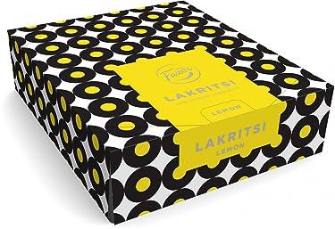 Fazer Limón lakritsi–Original–Finnish–rellena de–Caja de regaliz–Regaliz–Negro–30sticks x 20g