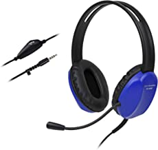 Cyber Acoustics 3.5mm Kid's Stereo Headset with Headphones and Noise Cancelling Microphone Featuring Limited Volume Output - for PCs and Tablets in The Classroom or Home (AC-4800)