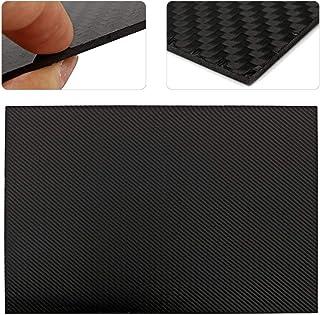 CCChaRLes Panneau De Plaque De Fibre De Carbone Noir 400X500Mm Panneau De Fibre De Carbone Diy De Véhicule Mat D'Armure Se...