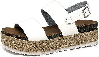 SODA Kazoo Top Shoe Women's Open Toe Ankle Strap Espadrille Sandal