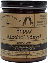 Malicious Women Candle Co - Happy Alcoholidays, Bad Santa (Eggnog) Infused with Inadequacy & Polite Smiles, All-Natural Organic Soy Candle, 9 oz