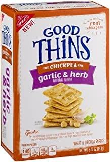 Nabisco, Good Thins, 5.75oz Box (Pack of 4) (The Chickpea One - Garlic Herb)
