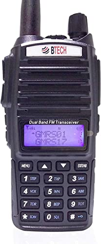BTECH GMRS-V1 GMRS Two-Way Radio, GMRS Repeater Capable, with Dual Band Scanning Receiver (136-174.99mhz (VHF) 400-52...