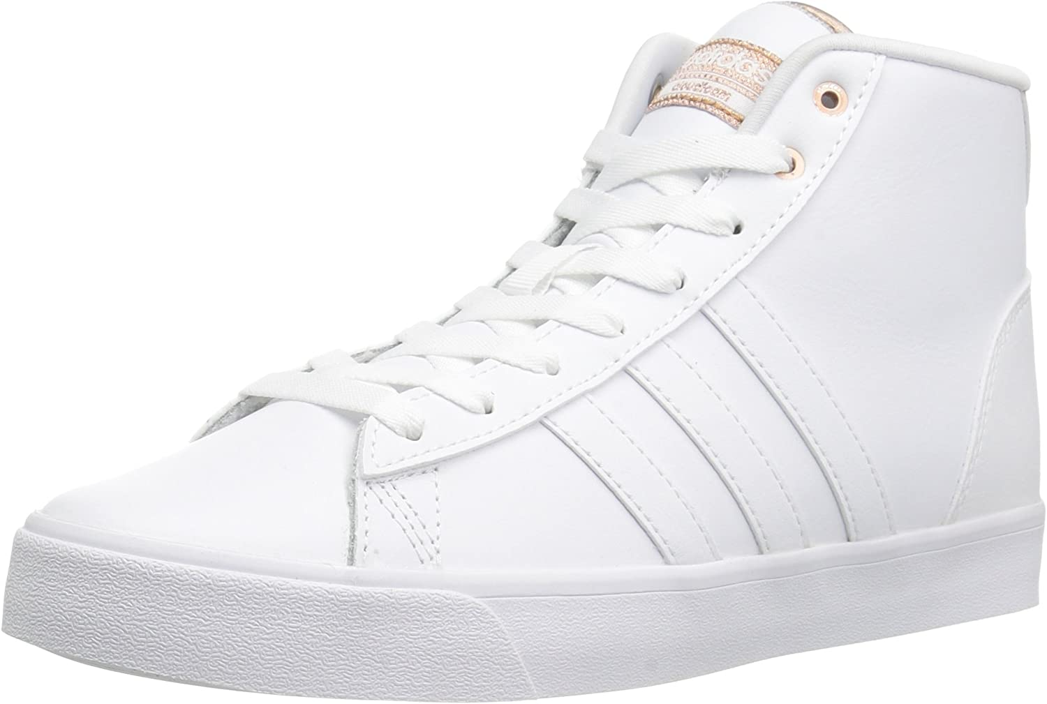 Adidas ORIGINALS Women's Cloudfoam Daily Qt Mid Fashion Sneakers White