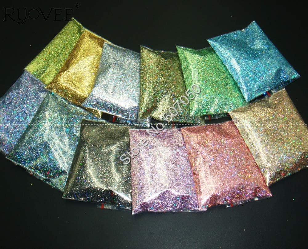 Gabcus Holographic Charlotte Mall Laser 12 Color San Diego Mall Resistant Solvent Mylar Shard