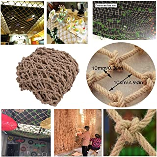 Children Safety Stair  Kids Stair Protection Net Safety Net Indoor amp Outdoor Hemp Rope Decoration Netting Patios Balcony Toys Pets Playground Safe Yellow  Color Yellow  Size 3x7m