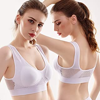 Sports Bra S-5xl Large Size New Mesh Without Steel Ring Sports Bra Ladies Yoga Running Shockproof Sports Underwear Suitabl...