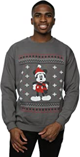 Men's Mickey Mouse Scarf Christmas Sweatshirt