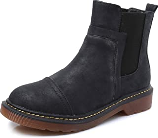 Smilun Lady¡¯s Mosaic Chelsea Ankle Boot Classic Chunky Heel Elastic Gusset Shoes