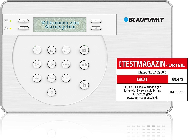 Blaupunkt SA2900R Sistema de Alarma para el hogar sin cuota mensual e inalámbrico con mando control remoto.