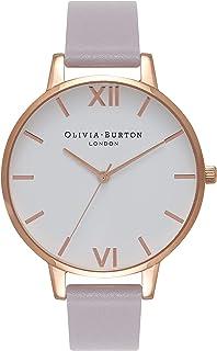 Olivia Burton Women's Quartz White Dial analog Display and Leather Strap, OB16BDW16