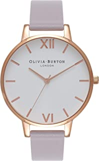 Olivia Burton Womens Quartz Watch, Analog Display and Leather Strap OB16BDW16