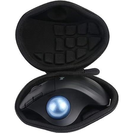 ロジクール (Logicool) M575GR /M575S ワイヤレスマウス トラックボール専用保護収納ケース-Aenllosi (ブラック)
