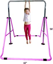 Kids Jungle Gymnastics Expandable Junior Training Monkey Bars Climbing Tower Child play Training Gym Pink