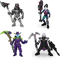 Fortnite Battle Royale Collection Squad Pack - Dark Bomber, Deadfire, Sanctum & Spider Knight Mini Action Figures