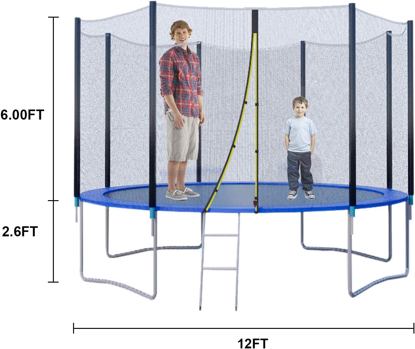 trampoline 12 ft with enclosure